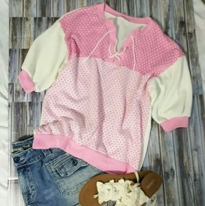 Vintage 70's Style Pink Girly Top